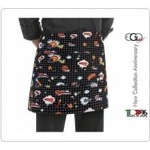 Grembiule Falda Banconiere Con Tascone POP ART cm 40x70 Ego Chef Italia Art.6100143A