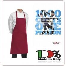 Grembiule Cucina Pettorina con Tascone cm 90x70 Bip Apron Bordeaux Ego Chef Italia Art.6103003C