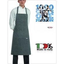 Grembiule Cucina Pettorina con Tascone cm 90x70 Bip Apron Grei Mix Art.6103067C