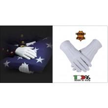 Guanti Guanto 100% Pelle Bianca Foderati Cerimonia Polizia di Stato Carabinieri Esercito Polizia Locale ecc. Art.BIC-GB
