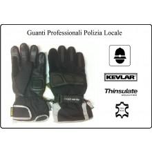 Guanti Moto Polizia Locale Kevlar Pelle Thinsulate Art.PL-13