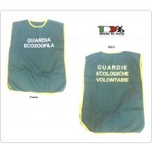Corpetto Gilet Fratino Gabardine Verde Con Ricamo Guardie Ecologiche Volontarie  Nuovo Modello OFFERTA Art. GPG-GE