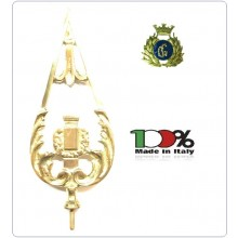 Lancia Puntale Ottone per Aste Portabandiera Guardie Giurate Vigilanza Security Art.NO-DRK-22