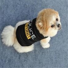 Maglietta in Cotone per Cane o Gatto Solo Piccola Taglia POLICE POLIZIA nero Art .GIULI-9