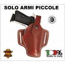 Fondina con Sgancio Regolabile Pelle Vega Holster Italia solo per armi piccole (Small Auto e Baby Auto Art.HC1