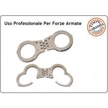 Manette Handcuffs Acciaio Professionali Carabinieri Polizia GDF Penitenziaria Vigilanza Security Modello Americano USA Art.29473
