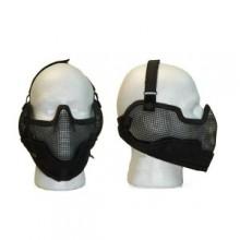 Maschera Protezione Rete  Nasco Bocca Orecchie NERA Art.KR002B