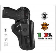 Fondina in Cuoio Sformato per Arma Corta Vega Holster Italia Polizia Vigilanza Carabinieri G.di F. Art.IH1