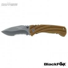 Coltello Serramanico FOX BLACKFOX G10 TITANIUM Maniago BF 116 Art. BF-116