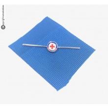 Nastrino Croce Rossa Italiana CRI MONGOLIA Nastro + Pins Come Foto  Art.CRI-MON-N