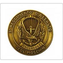 Vetrofania 9° Reggimento D'assalto Col Moschin Carabinieri Paracadutisti  Art.NSD-9