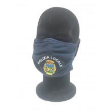 Mascherina Protettiva Modello Adulto con Ricamo Polizia Locale con VENETO Nuovo Lavabile Art. NSD-PL-VENETO