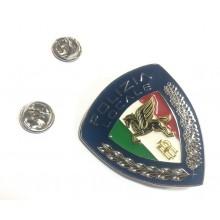 Spilla Polizia Locale Pegaso Nuovo Modello Doppia Galvanica  Art. 035PL
