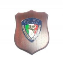 Crest Quadretto Polizia Locale PL Pegaso Nuovo Logo Nazionale  Art. 955