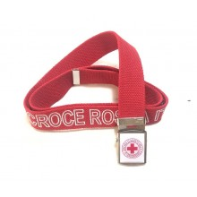 Cintura Cinturone Canapa Croce Rossa Italiana CRI C.R.I. Logo Vetrificata con Ricamo Tessuto CROCE ROSSA  Novità 2021  Art.CIN-CRI-RIC
