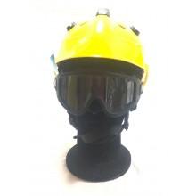 Casco Elmo Protettivo GIALLOCompleto di Occhiali Antifumo Sicor Professionale Antincendio Boschivo Soccorso Tecnico Protezione Civile EOM R5840X – EOM Art. 5423200101-G