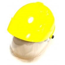 Casco Elmo Giallo Protettivo Completo di Visiera Sicor Professionale Antincendio Boschivo Soccorso Tecnico Protezione Civile Covin19 EDL-01 Art. 05050/010/020