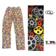 Pantalone Pantaloni Pants Hose Coulisse Cuoco Chef Professionale Ego Chef Italia Color Gear Ingranaggi  New Art. 3502152AM
