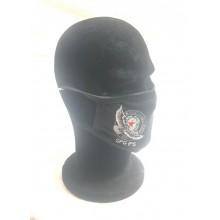Mascherina Protettiva Modello Adulto con Ricamo Guancia GPG IPS AQUILA NERA Lavabile Art. NSD-GPG-19CN