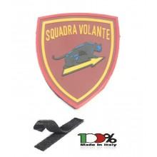 Patch Toppa Polizia di Stato Squadra Pantera Volante Gommata 3D con Velcro OFFERTISSIMA  Art. 3D-SP