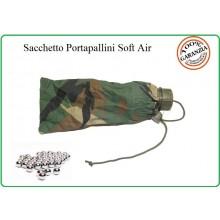 Sacchetto Porta Pallini 6 mm Soft Air Guerra Simulata Woodland Art.JQ-01WOOD