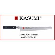 Coltello Giapponese Damasco 32 Strati KASUMI Pane - Chef con lama da 26 Cm Art.86026