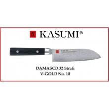 Coltello Giapponese Damasco 32 Strati  KASUMI Santoku - Chef con lama da 13 Cm Art.84013
