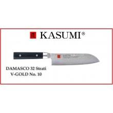Coltello Giapponese Damasco 32 Strati  KASUMI Santoku - Chef con lama da 18 Cm Art.84018