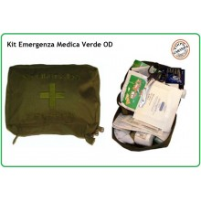 Kit Medico di Primo Soccorso Kit First Aid 3 Verde OD Esercito Marina Aeronautica Emergenza Art.01419