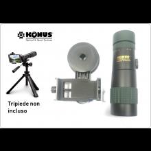 Monocolo Professionale Zoom 8-24 x40 X con Adattatore Universale per Smartphone per Investigazione Appostamenti Konus Konusmall-3 Art. 2063