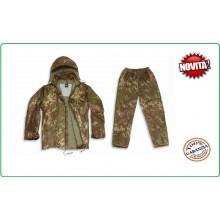 Completo Vegetato Pioggia Antipioggia  Giacca + Pantaloni Freddo e Pioggia Militare Esercito Italiano  Mil Tec  Art.10625042