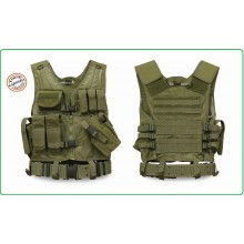 Tactical Vest - Gilet Tattico Modulare Corpetto Tattico USMC Mil-Tec Verde OD  Art.10720001