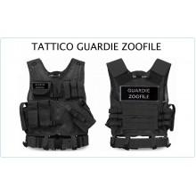 Tactical Vest Gilet Tattico Modulare Corpetto Tattico Mil-Tec Nero GUARDIE ZOOFILE  Art.10720002-ZO