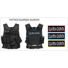 Tactical Vest Gilet Tattico Modulare Corpetto Tattico Mil-Tec Nero GUARDIE GIURATE - Rosso - Verde - Blu Art.10720002-GG