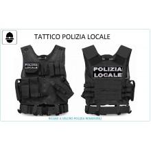 Tactical Vest Gilet Tattico Modulare Corpetto Tattico Mil-Tec Nero POLIZIA LOCALE VENDITA RISERVATA Art.10720002-PL
