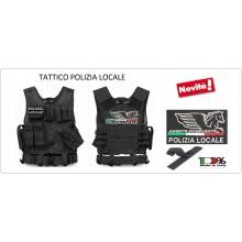 Tactical Vest Gilet Tattico Modulare Corpetto Tattico Mil-Tec Nero POLIZIA LOCALE VENDITA RISERVATA Art.10720002-PL-NEW