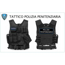 Tactical Vest Gilet Tattico Modulare Corpetto Tattico Mil-Tec Nero POLIZIA PENITENZIARIA VENDITA RISERVATA Art.10720002-PP