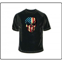 T-Shirt Maglietta American Flag Skull Colore Nero Art.17615