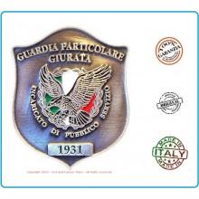 Placca con Clip G.P.G - I.P.S ®  Guardia Particolare Giurata Incaricato di Pubblico Servizio Art.GPG04/CL
