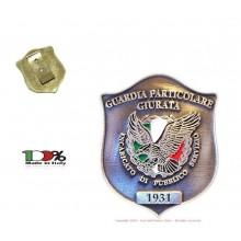 Placca con Clip G.P.G - I.P.S ®  Guardia Particolare Giurata Incaricato di Pubblico Servizio Art. GPG04/CL