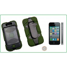 CUSTODIA ANTISHOCK - ANTIACQUA PER IPHONE 4-4S colore Verde  Special Operations Art.03150