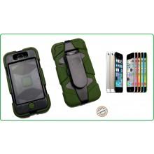 CUSTODIA ANTISHOCK - ANTIACQUA PER IPHONE 5C colore Verde o Nera Special Operations Art.03152