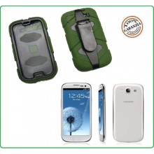 CUSTODIA ANTISHOCK - ANTIACQUA PER Samsung I9500 - S4  colore Verde Special Operations Art.03157