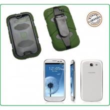 CUSTODIA ANTISHOCK - ANTIACQUA PER Samsung I9500 - S4  colore Verde Special Operations Art.03157