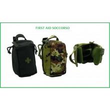 Giberna CRI Soccorso First aid con Attacchi Molle doppia zip di Apertura Art.EUMAR-FA