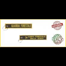 Portachiavi Porta Chiavi a Nastro Corpo Forestale dello Stato Prodotto Italiano Ufficiale Giemme Art.KC024