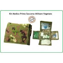 Kit Medico di Primo Soccorso Kit First Aid 2 Vegetato Esercito Marina Aeronautica Emergenza Art.01402