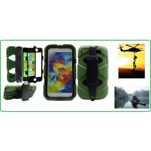 CUSTODIA ANTISHOCK - ANTIACQUA PER IPHONE S5 colore Verde Special Operations Art.S5-E