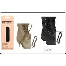 Stringhe Lacci per Anfibi e Scarponi cm 160 Neri o Sabbia FOSCO Militari  Art.239176
