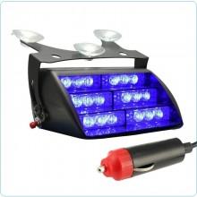 Lampeggiante Blu a Led Strobo Interno Auto Polizia Digos Vigilanza Emergenza Art.51034S